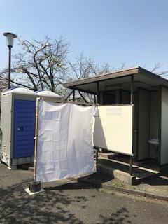 柴島浄水場桜並木のトイレ