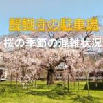 醍醐寺の桜の時期の駐車場