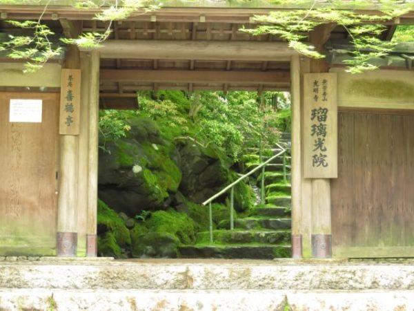 瑠璃光院の門