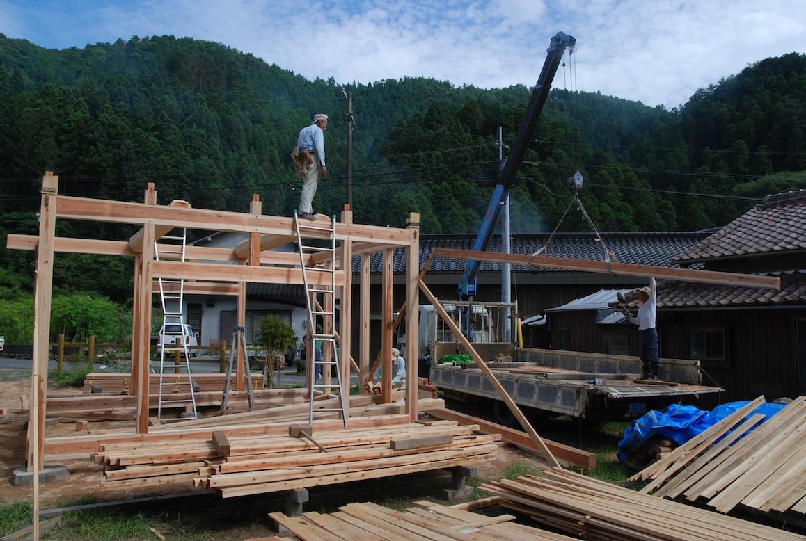 Construction Dune Maison Au Japon A La Campagne Au Japon