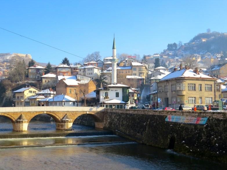 Sarajevo is so pretty under the snow!