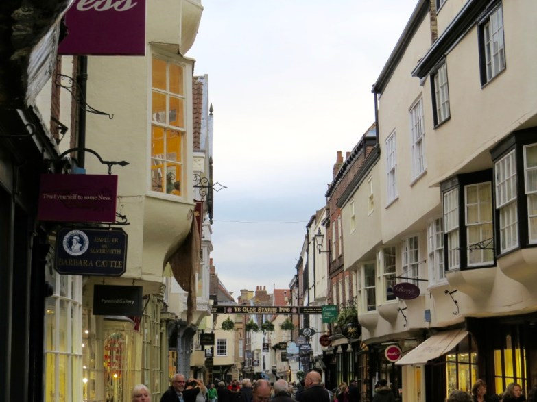 Busy streets of York