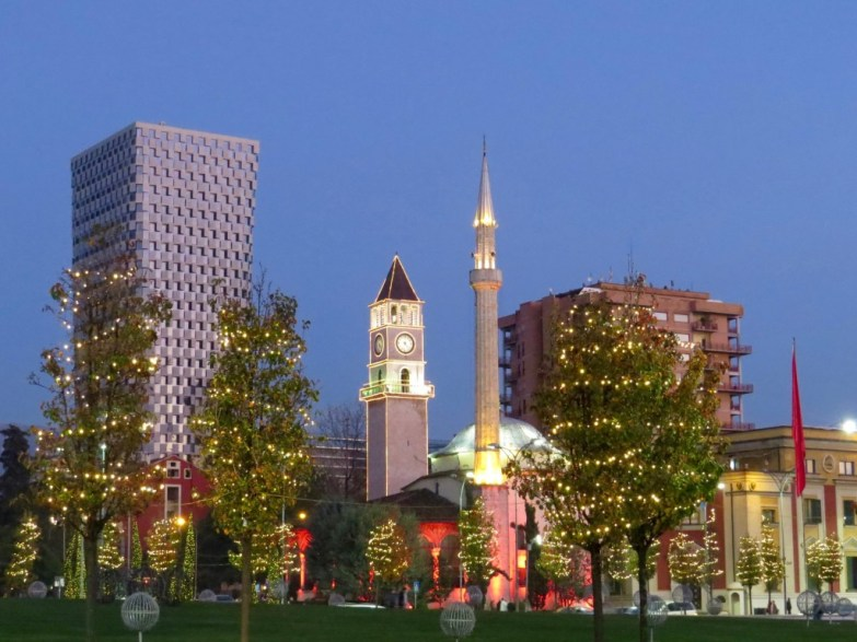 Skandarberg Square in Tirana, is always ready for a new year!