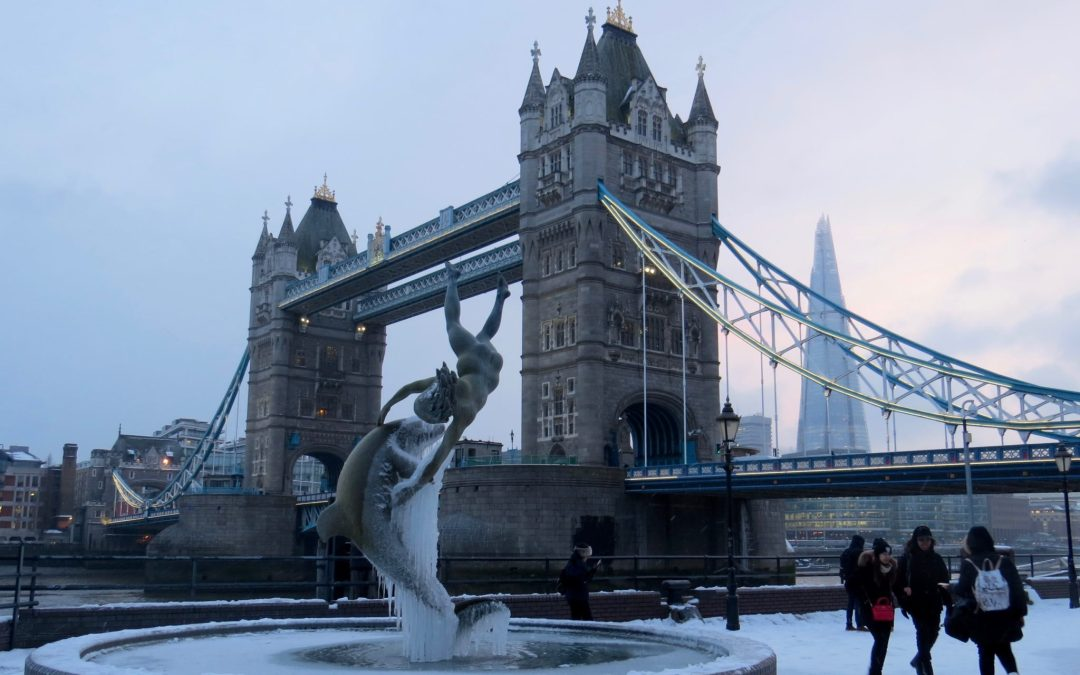 Frozen London Under The Snow