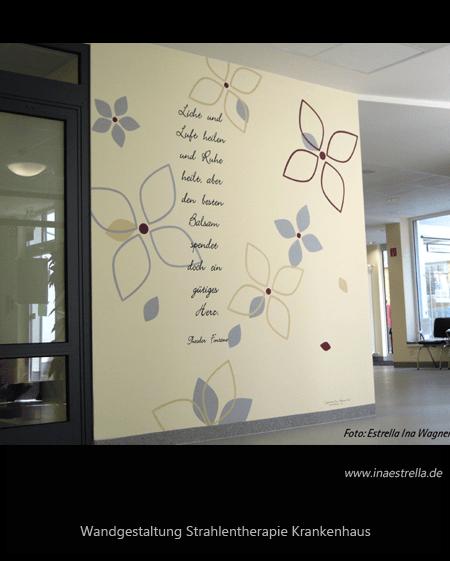 Wandgestaltung Strahlenklinik Caritas Rastpfuhl