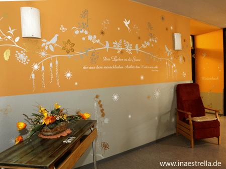 Wandgestaltung Altersheim