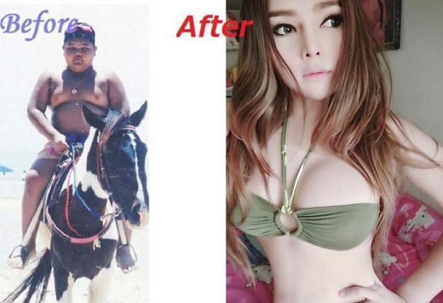 9 21 10 Foto Perubahan Transgender dari Cowok ke Cewek ini Bikin Kaget! Mau Liat