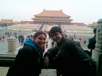 Hamming it up in the Forbidden City.