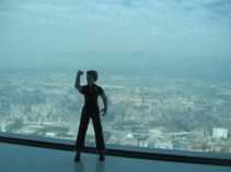 Rosie in the highest building in Taipei!
