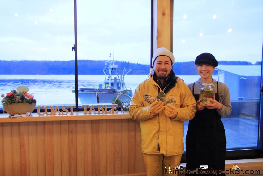 """牡蠣の町に移住した漁師夫婦、""""能登/穴水町ならでは!""""を活かした食堂『コースト・テーブル』オープン"""