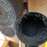 時計型薪ストーブの煙突掃除と煙突延長