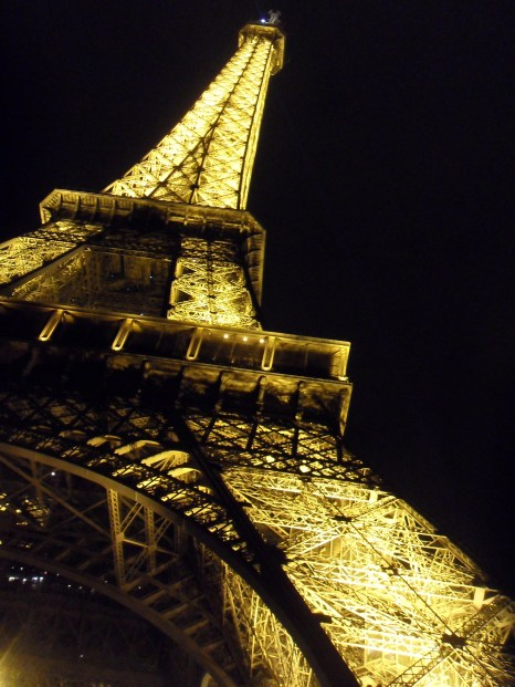 The Eiffel Tower: It lights up!