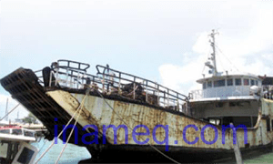 Steel ship corrosion