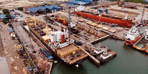 Repair dock shipyard