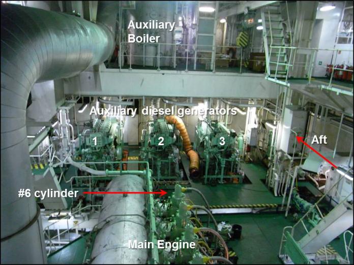 Ship main engine commisioning