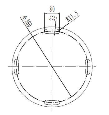Nautical Gyro Vertical Type Bearing Repeater Support