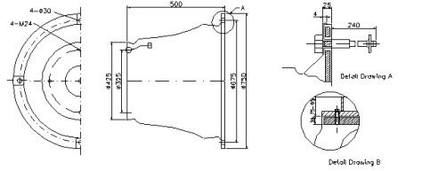 CMR-A Super Cell Rubber Fender drawing specification and dimension