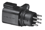SIX-PIN ELECTRICAL CONNECTOR