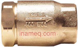 In Line Check Valve in Bronze