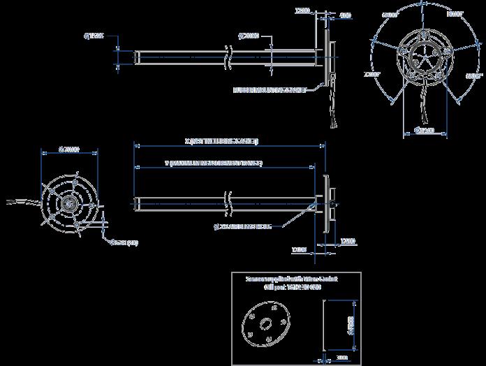 Industrial Liquid Level Sensor Dimension