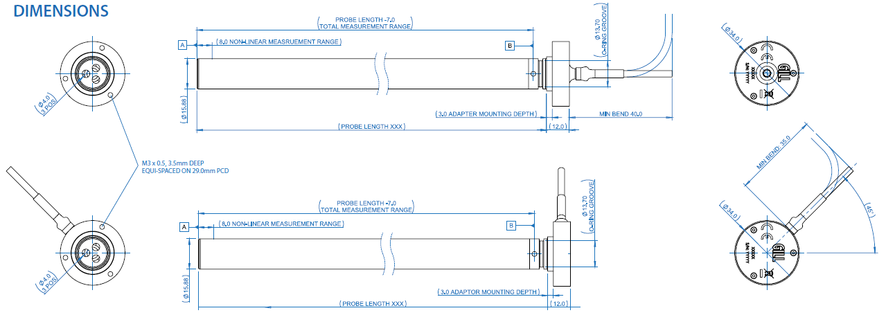 Lightweight Liquid Level Sensor Dimension