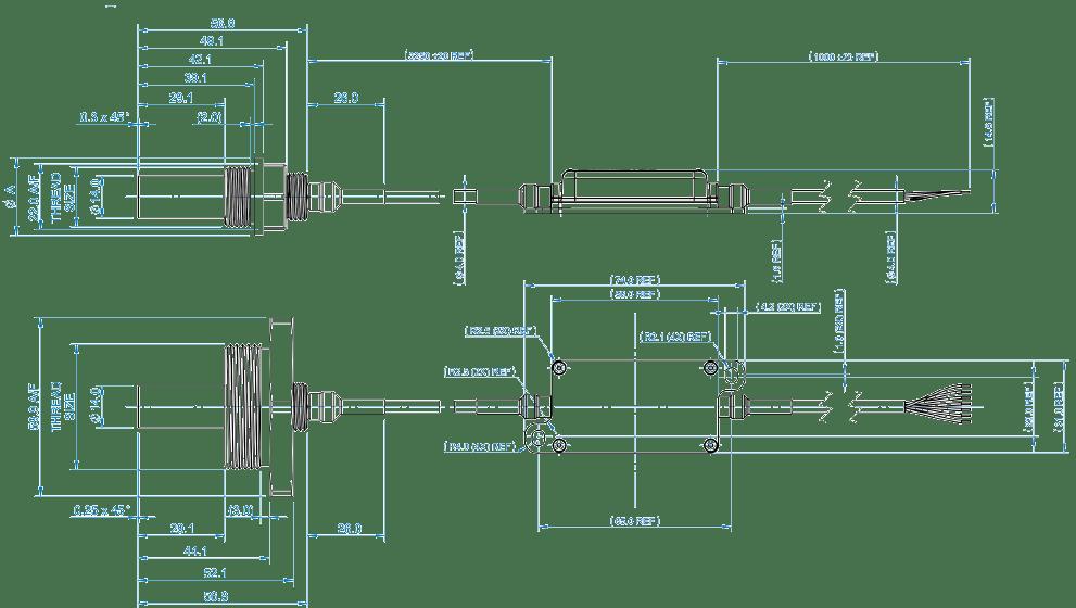 Oil Condition Sensor Dimension