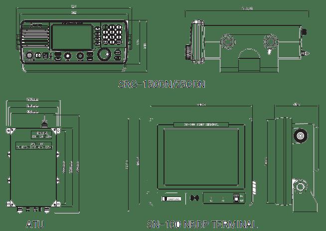 DESK Type 150/250W MF/HF DSC, NBDP SYSTEM GMDSS Drawing