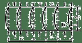 Gambar 3. Bentuk tekuk atau deformasi dari pelat berpenegar dalam pengaruh tegangan tekan (kegagalan balok kolom)
