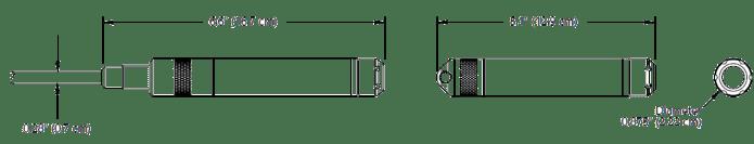Pressure And Level Sensors Type BaroSCOUT Seametrics Dimension
