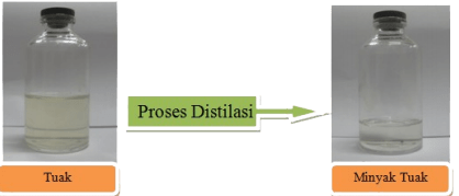 Proses pembuatan minyak tuak