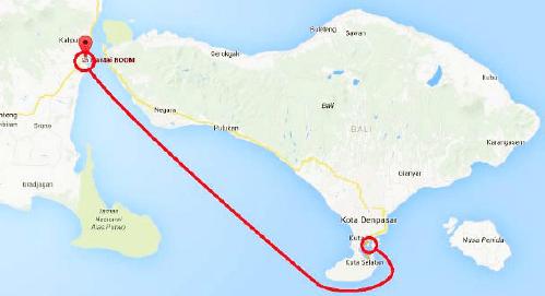 Rute Pelayaran kapal penumpang katamaran