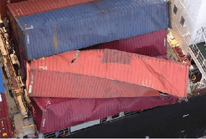 Loss of containers due lashing failure