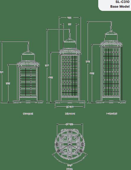 SL-C310 Base Model Technical Illustrations