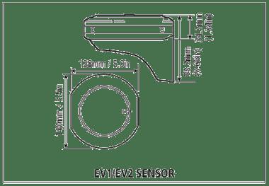 EV1 and EV2 Sensor Core Dimension