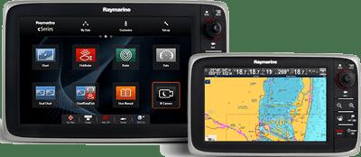 c9 c12 Front Raymarine cSeries Multifunction Displays