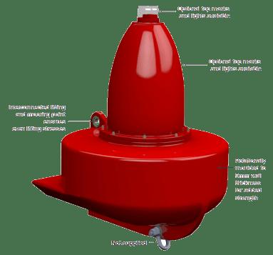 1200mm Diameter Fast Water Buoy (SL-B1200-FW) Application