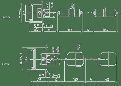 Dimensi Parker Float Level Switch