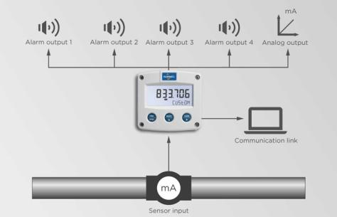 Fluidwell Flow Meters Type F190 Sensor Input