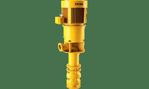 Submerged lubrication oil pump