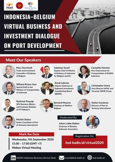 Indonesia-Belgium Virtual Business And Investment Dialogue On Port Development