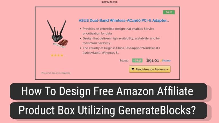 Amazon Affiliate Product Box