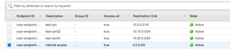 AWS Client VPNへ接続した際にインターネットへの接続を許可する