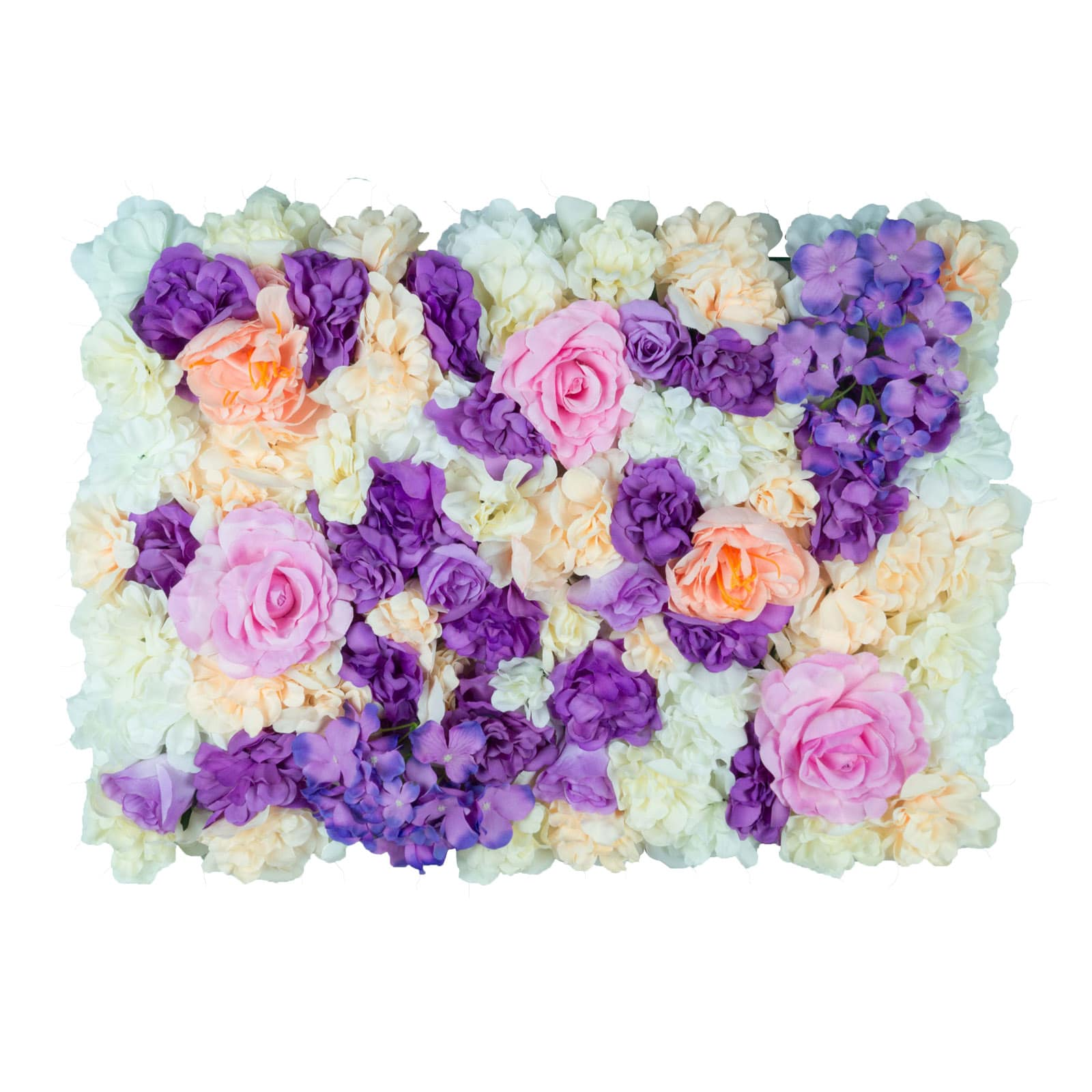 Mixed Pastel Flower Wall Panels Create Amazing Backdrops