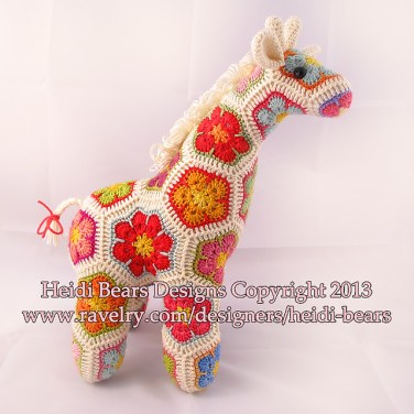 http://www.ravelry.com/patterns/library/jedi-the-curious-giraffe-african-flower-crochet-pattern