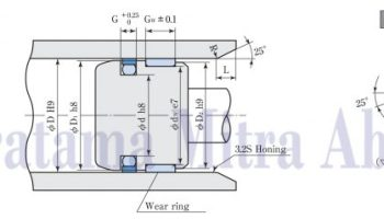 ST Hydraulic Seal Sakagami For Pistons Drawing