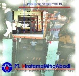 Instalasi mesin press hydraulic