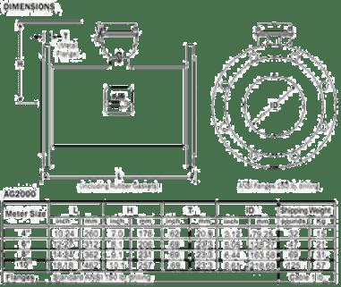 Magmeter Flowmeter AG2000 Dimension