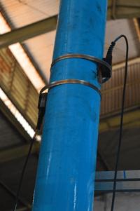 Pengecekan flow meter clamp on