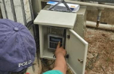 Installasi Ultrasonic Flow Meter Pada Pipa HDPE