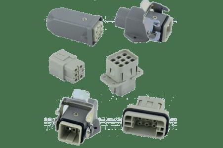 Heavy duty Connector 6 Pin , H6E